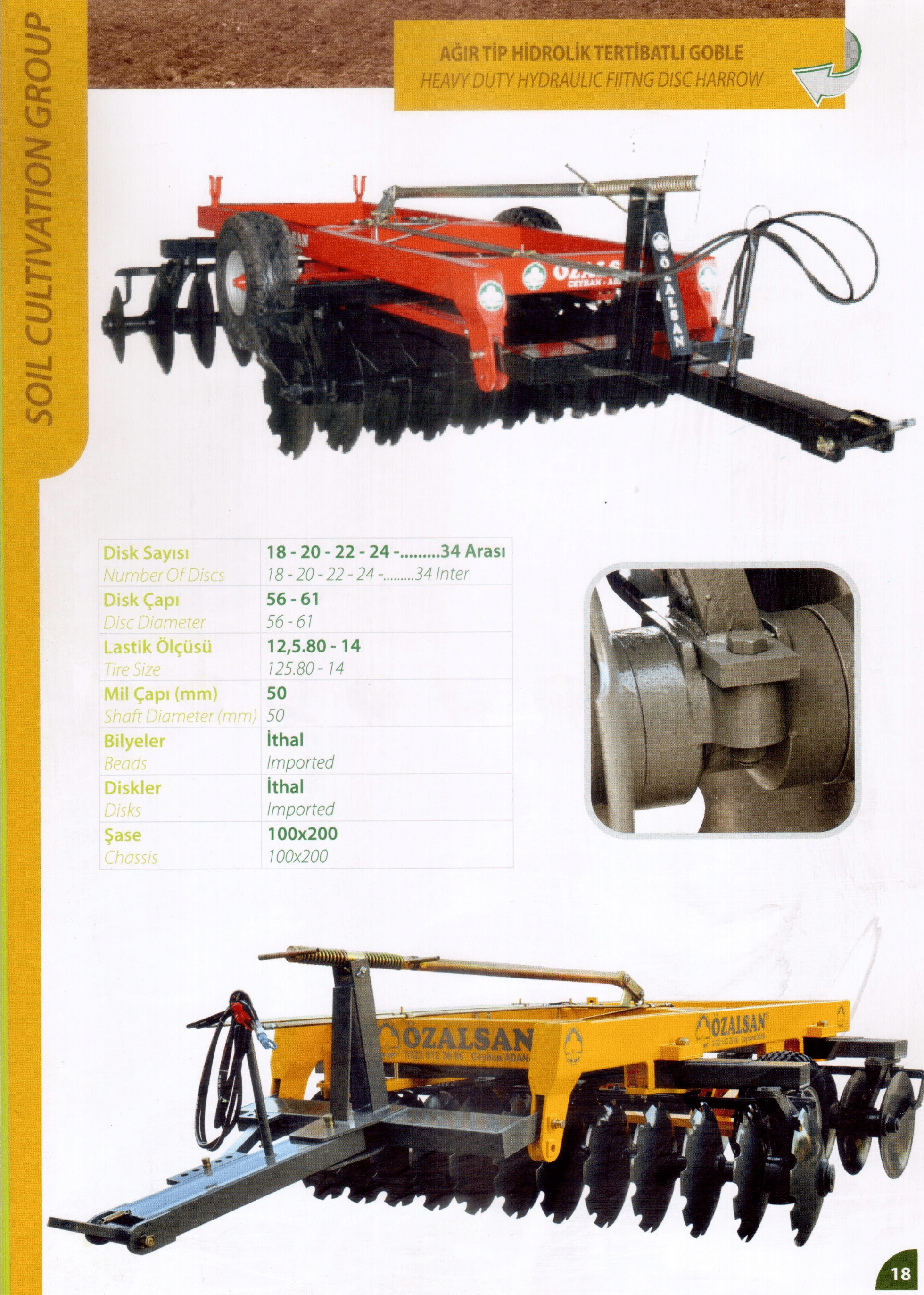 AĞIR TİP HİDROLİK TERTİBATLI GOBLE (HEAVY DUTY HYDRAULIC FIITNG DISC HARROW)